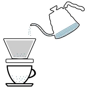 Heißes Wasser einfüllen