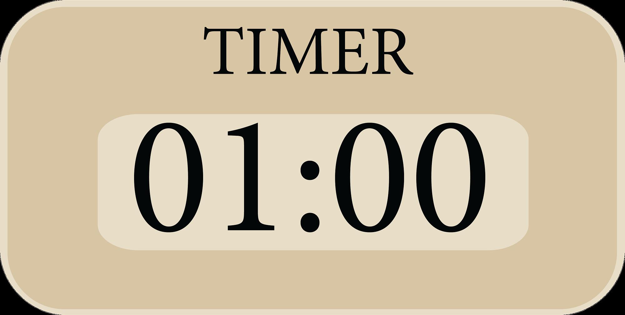 Timer zeigt eine minute